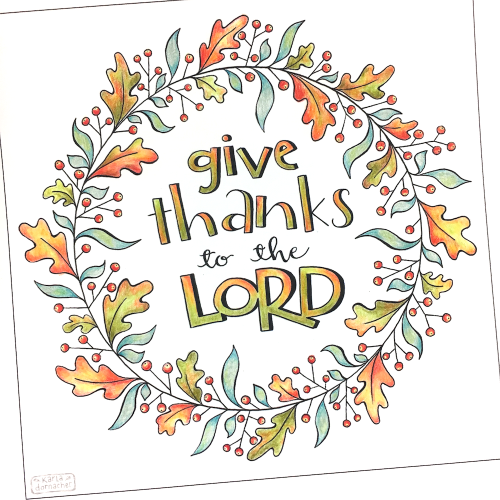 Give Thanks – Variegated Leaf Colored Pencil Video