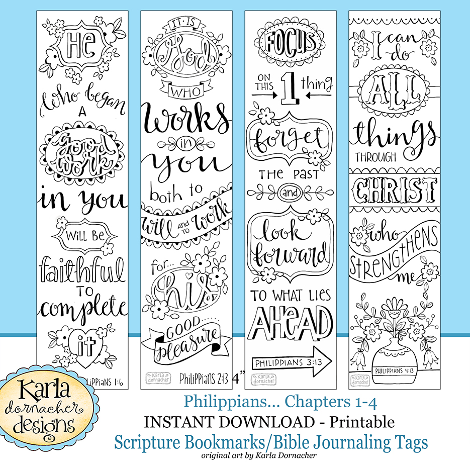 New philippians bible journaling templates tracers for Philippians 4 13 coloring page