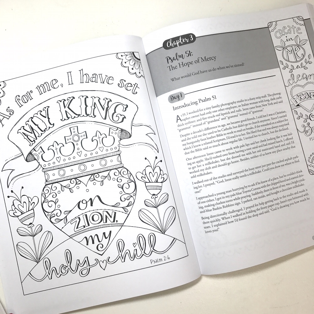 bible study coloring pages - discovering hope in the psalms a creative bible study